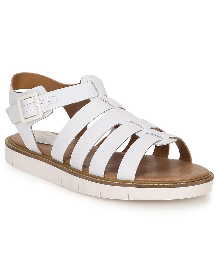 433567b52fe7 Clarks White Sandals Price in India- Buy Clarks White Sandals Online at  Snapdeal