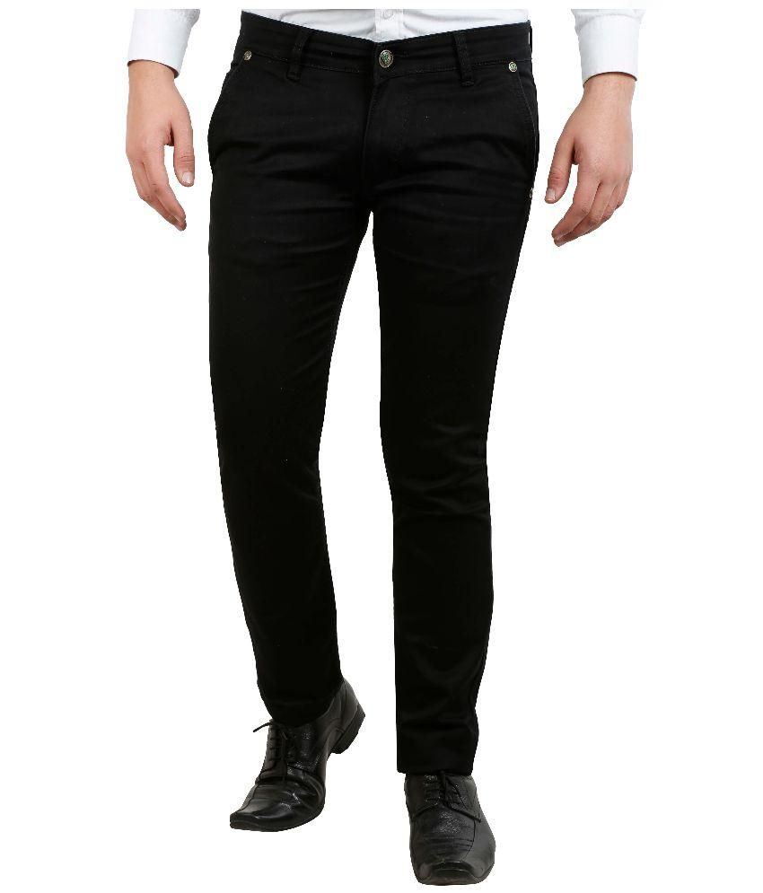 Fashion N Style Black Regular Fit Casual Trouser