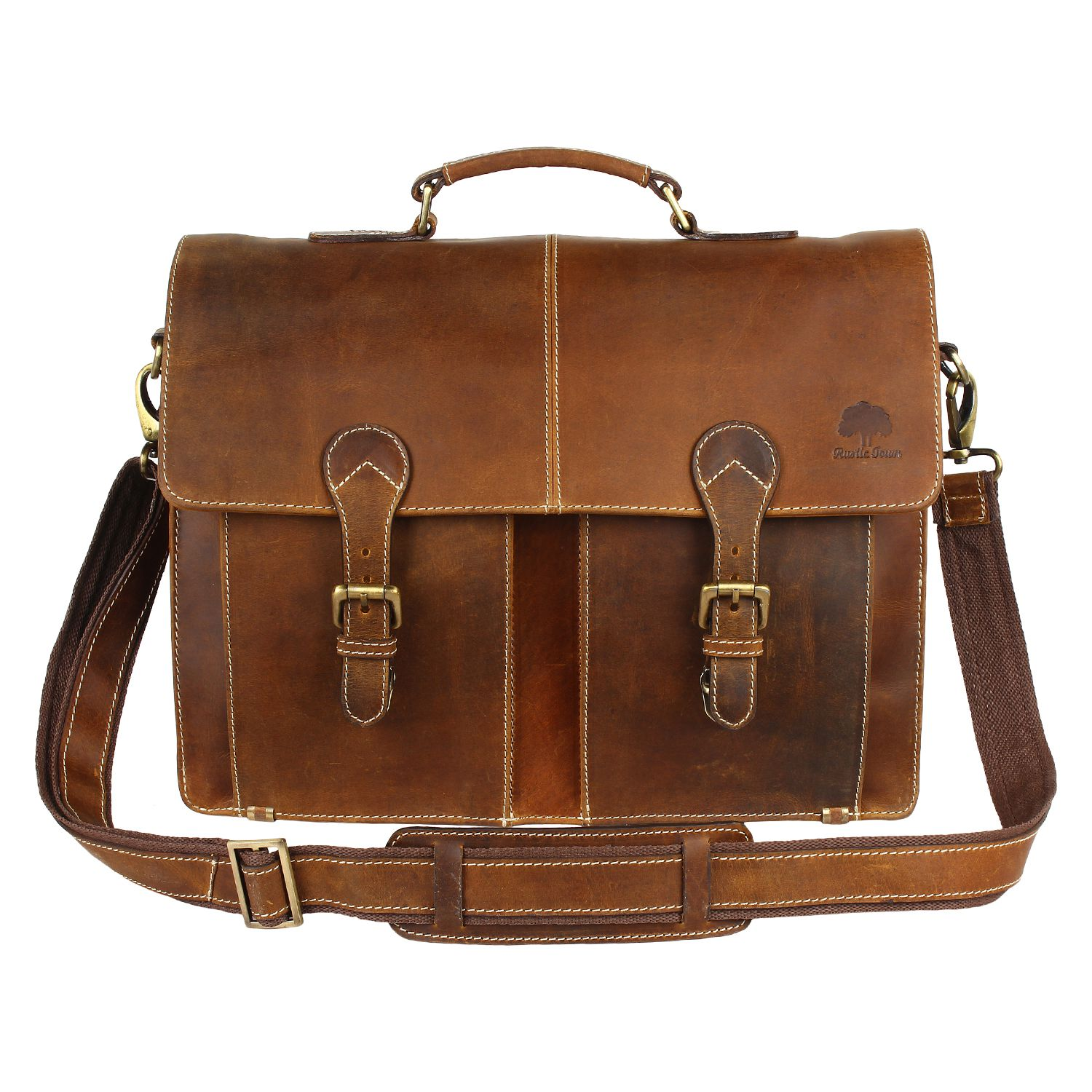 Rustic Town Leather Laptop Bag
