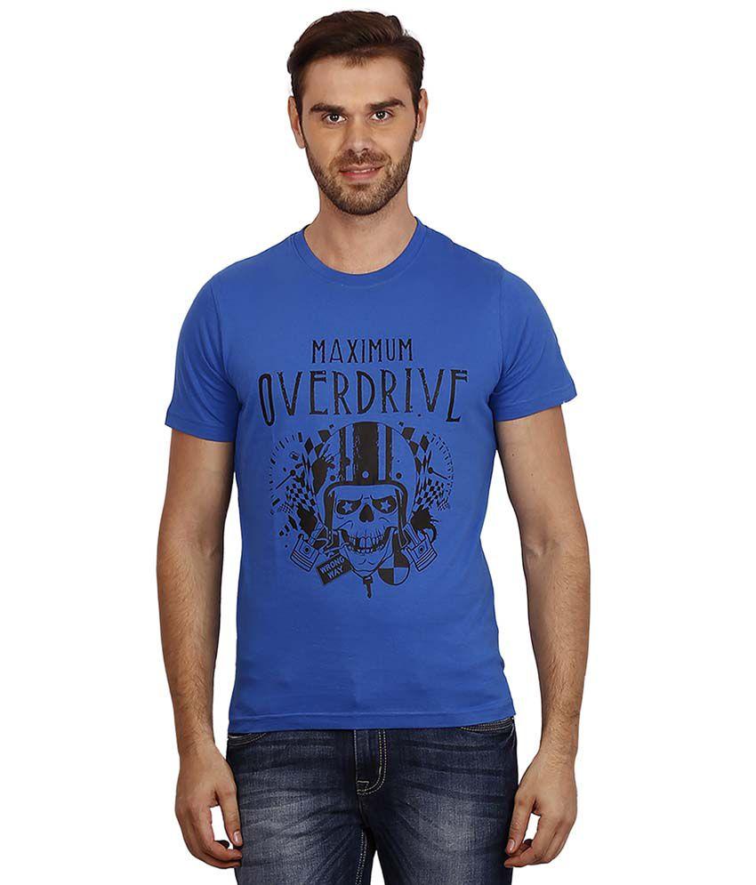 Crush On Craze Blue Cotton T-shirt