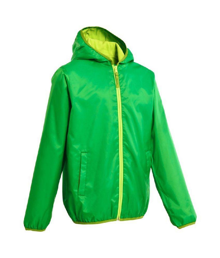Quechua Rain-cut Warm Kids Waterproof Hiking Jacket