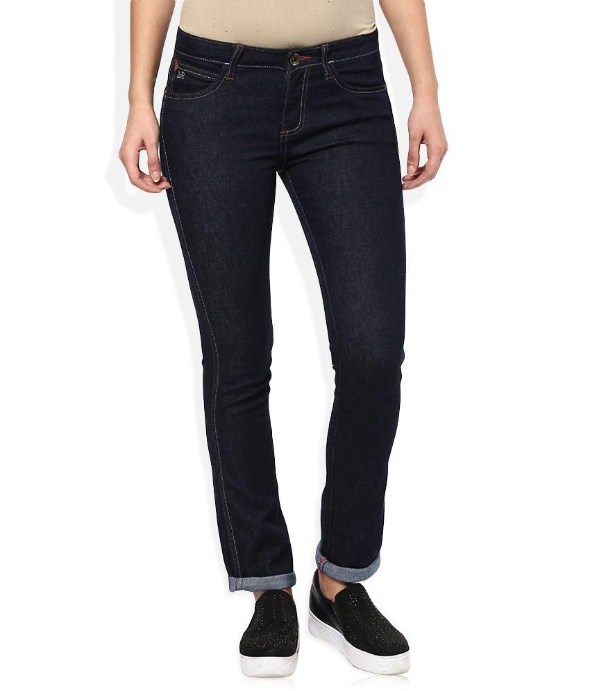 Wrangler Blue Regular Fit Stretch Jeans