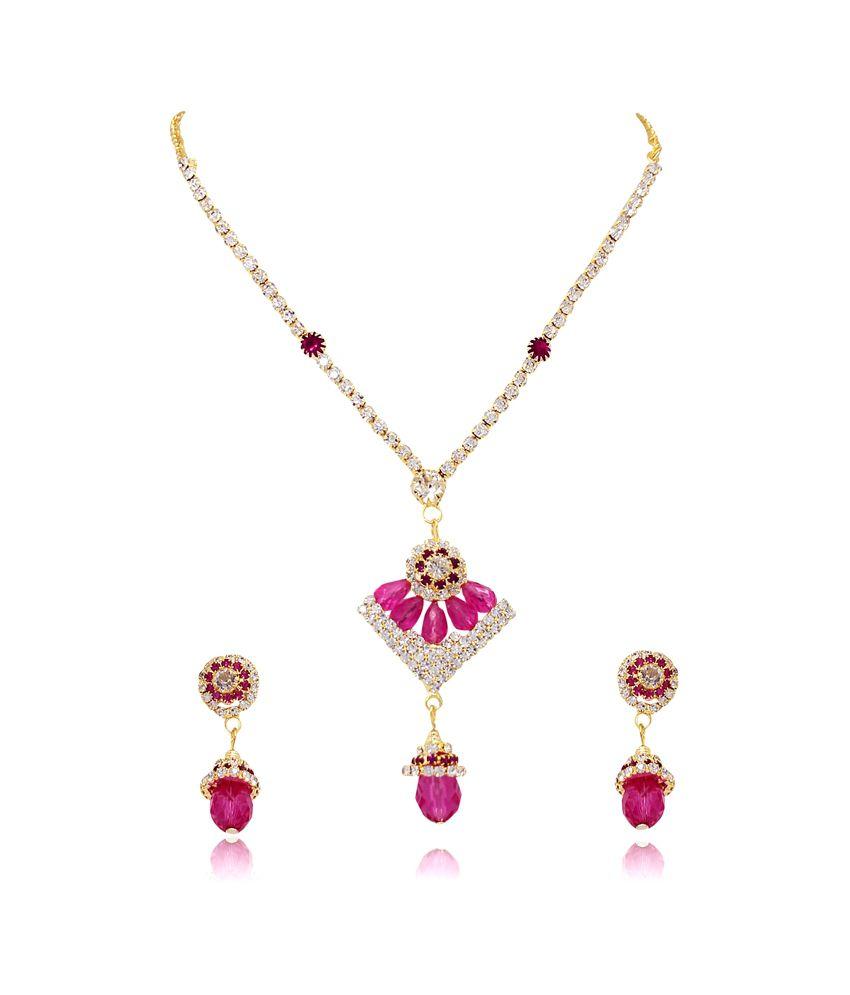 Atasi International Pink And White Necklace Set