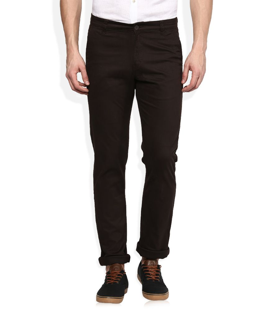 Monte Carlo Brown Regular Fit Formals Chinos