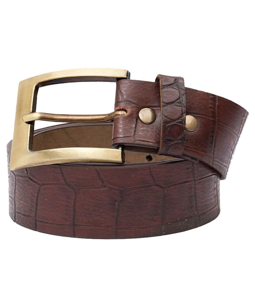 Urban Navy Brown Single Pin Buckle Casual Belt