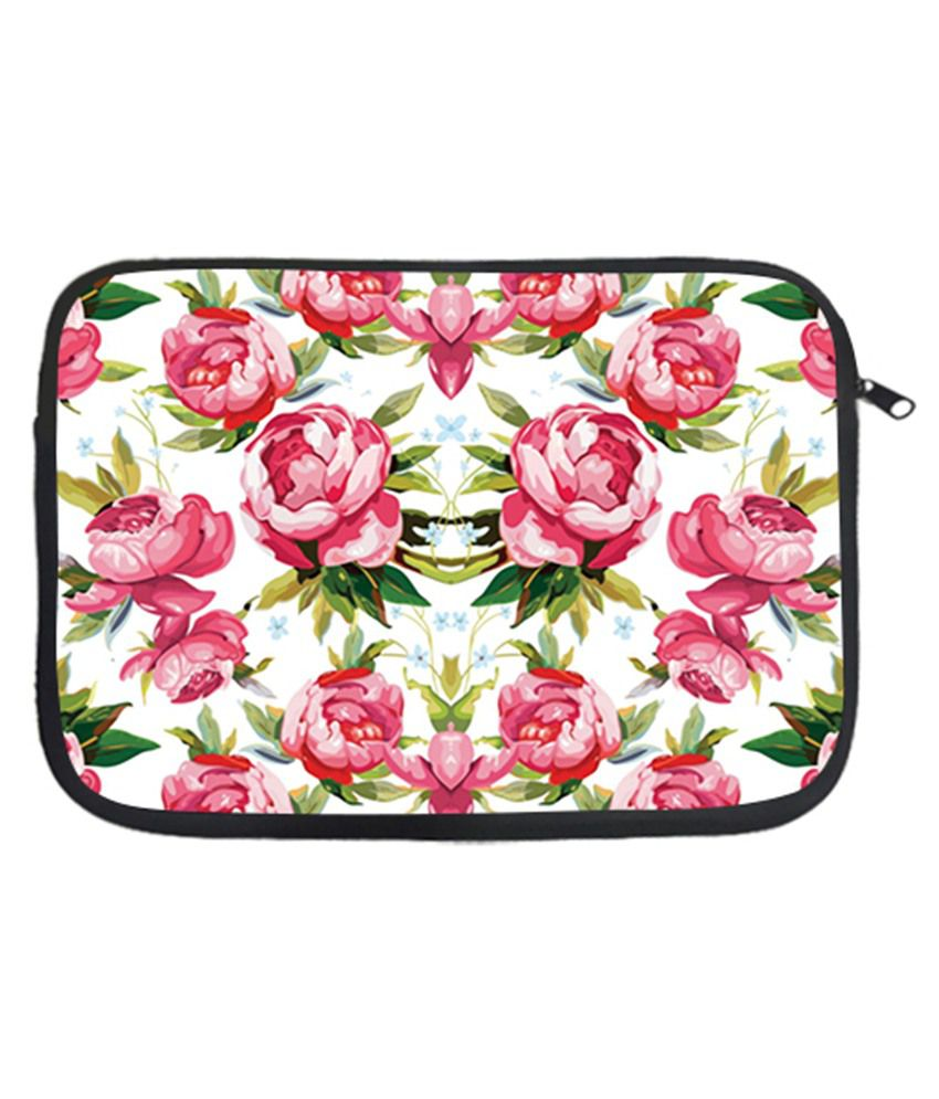 Via Flowers Printed Laptop Sleeve - Multicolour