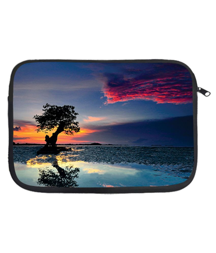 Via Flowers Scenery Laptop Sleeve - Multicolour
