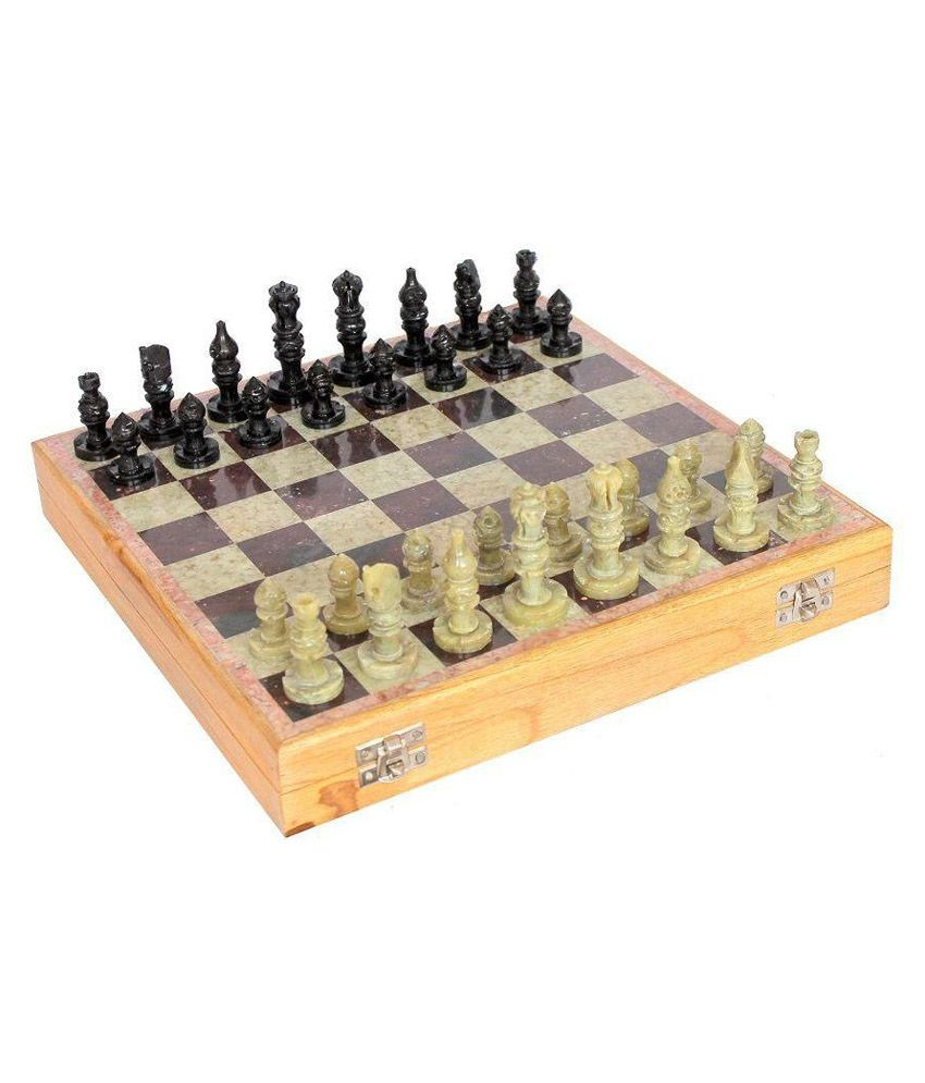 Kaushal Creation Wooden and Marble Chess Board