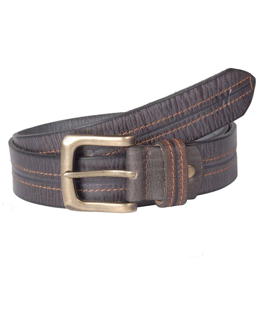 Wega Life Brown Leather Casual Belt For Men