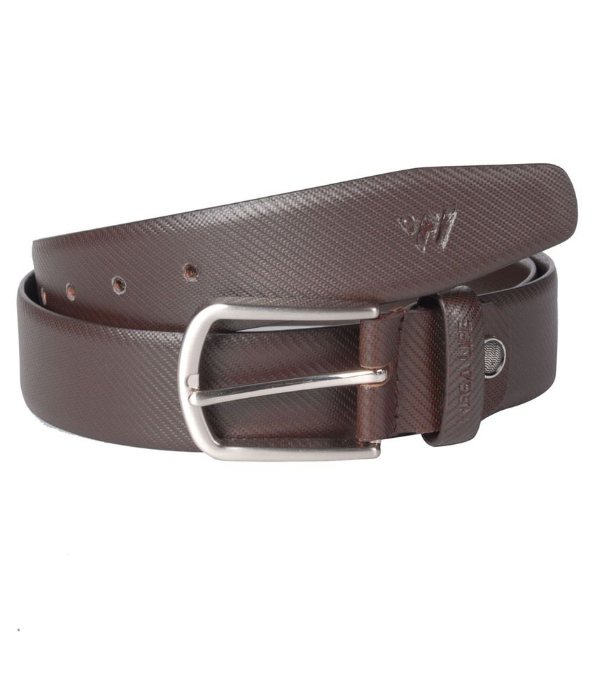 Wega Life Brown Leather Formal Belt For Men