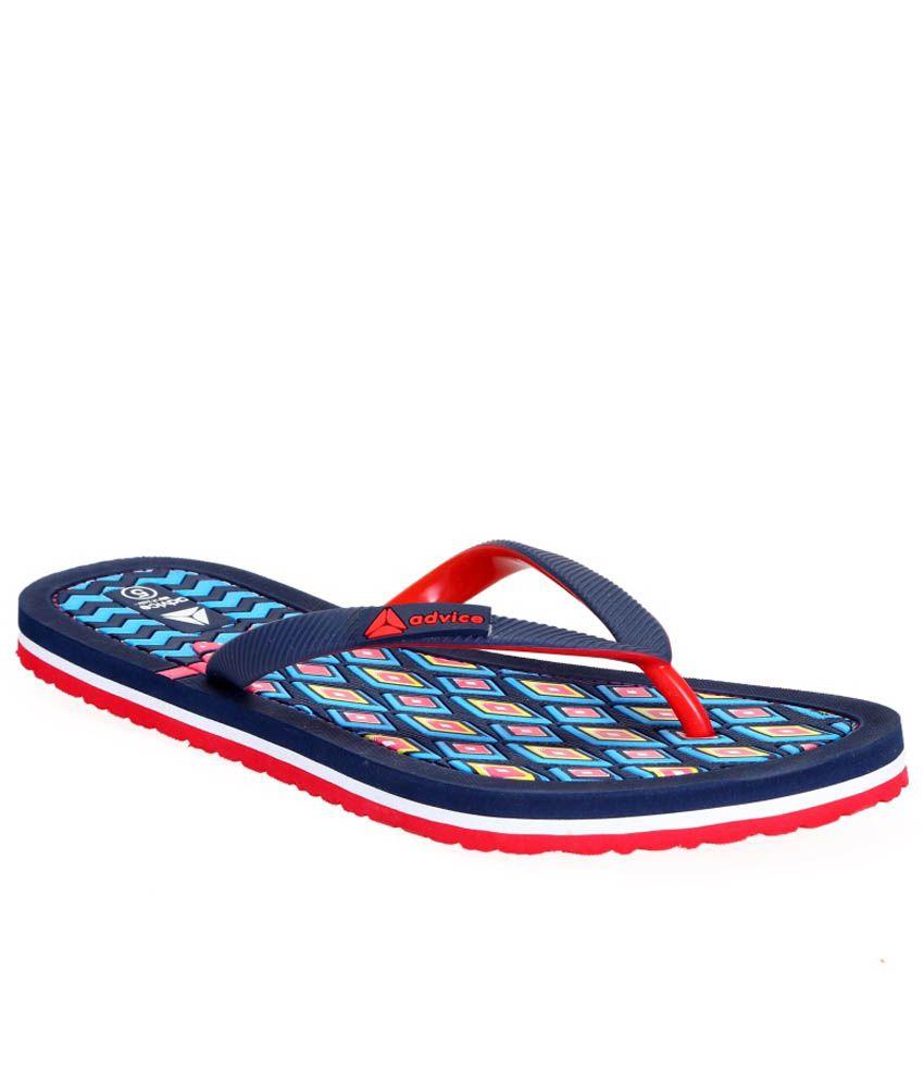 Advice Blue Slippers & Flip Flops