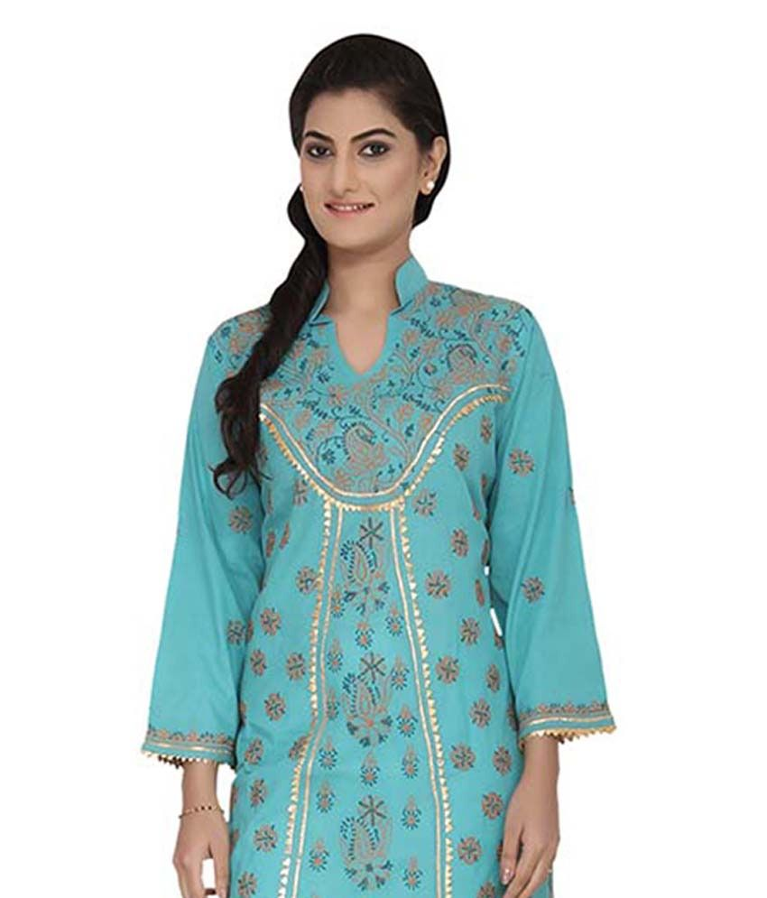 Vastre Multi Color Cotton Kurti