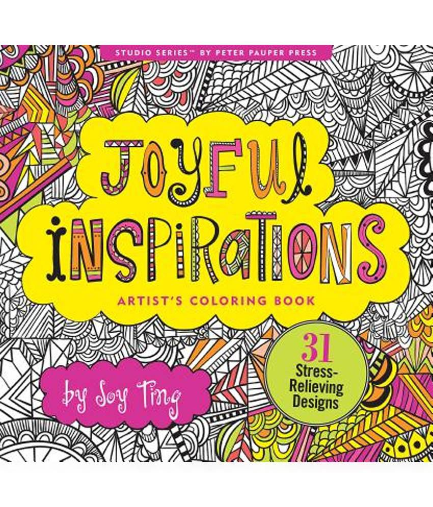 Joyful Inspirations Adult Coloring Book 31 Stress Relieving Designs