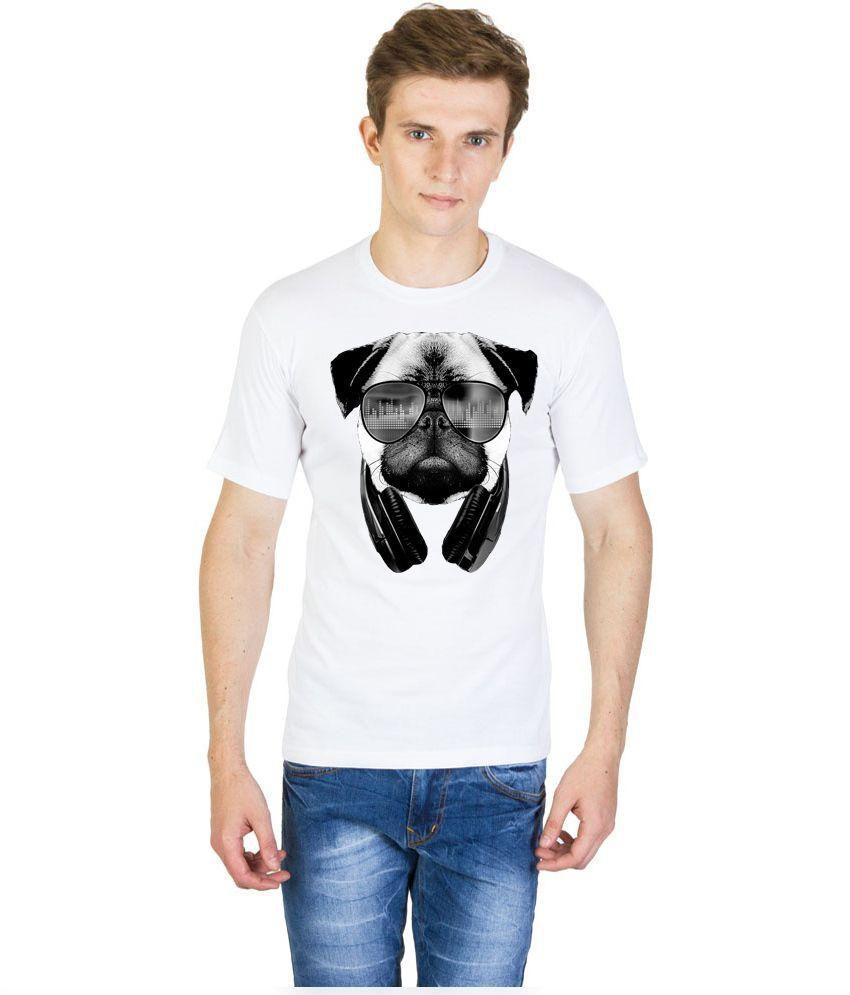 Madink White Round Neck T-Shirt