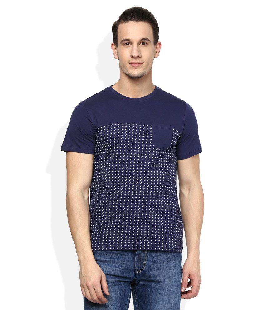 Acropolis Navy Round Neck T-Shirt