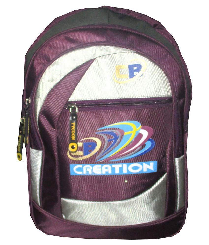 School bag ahmedabad gujarat - Creation Bags Purple Gray Polyester School Bag For Boys