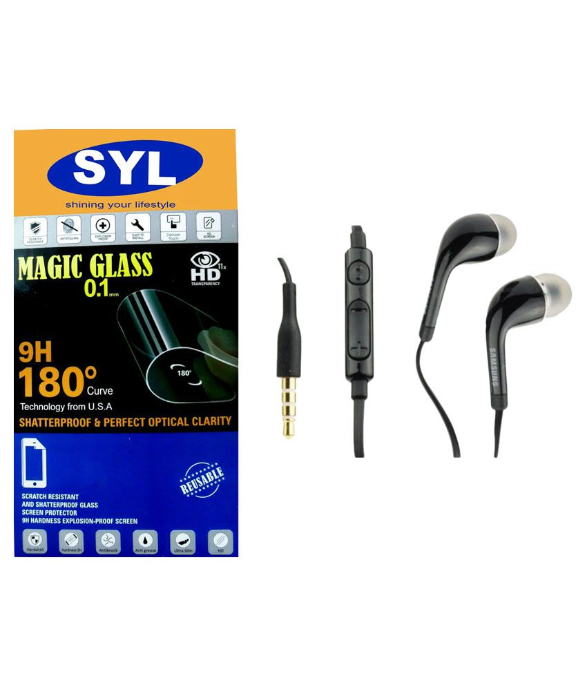A6000 PLUS Tempered Glass Screen Guard with Earphones by SYL