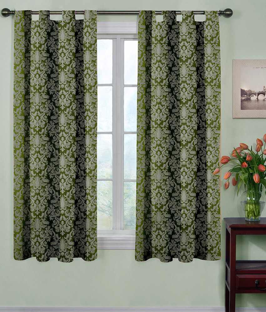Trendy Home Window Curtain Semi Transparent Set Of 2 available at SnapDeal for Rs.299
