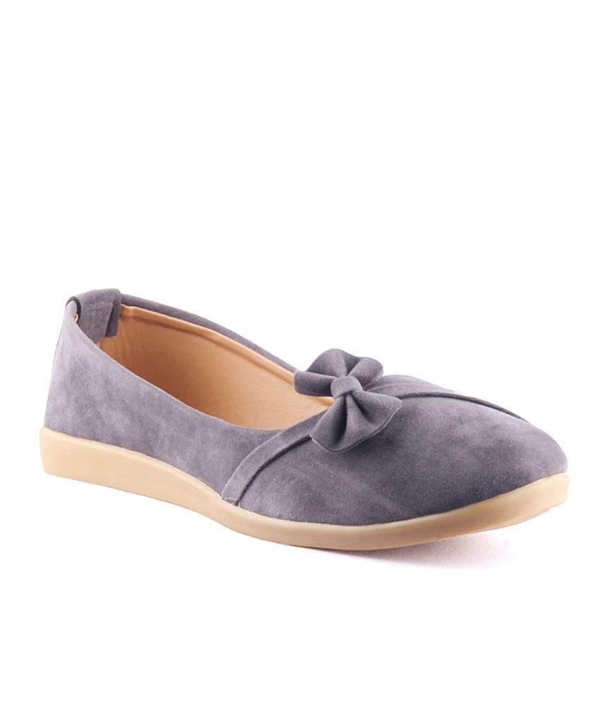 Savie Shoes Gray Ballerinas