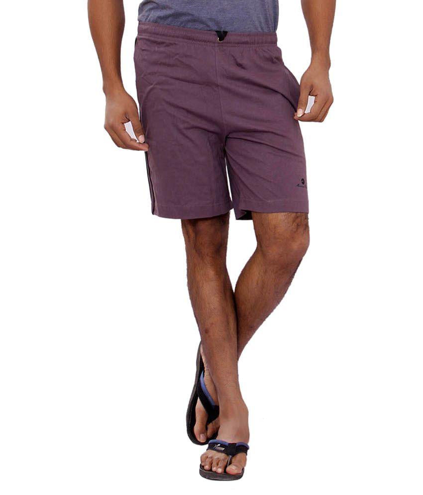 JTInternational Maroon Cotton Shorts