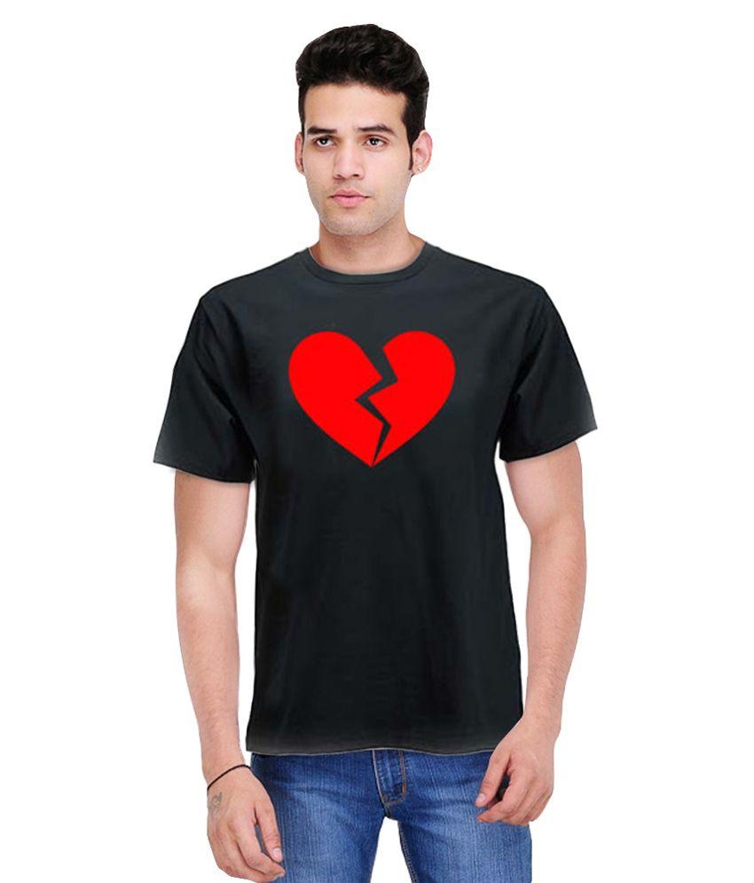 Republik 47 Black Round Neck T-Shirt