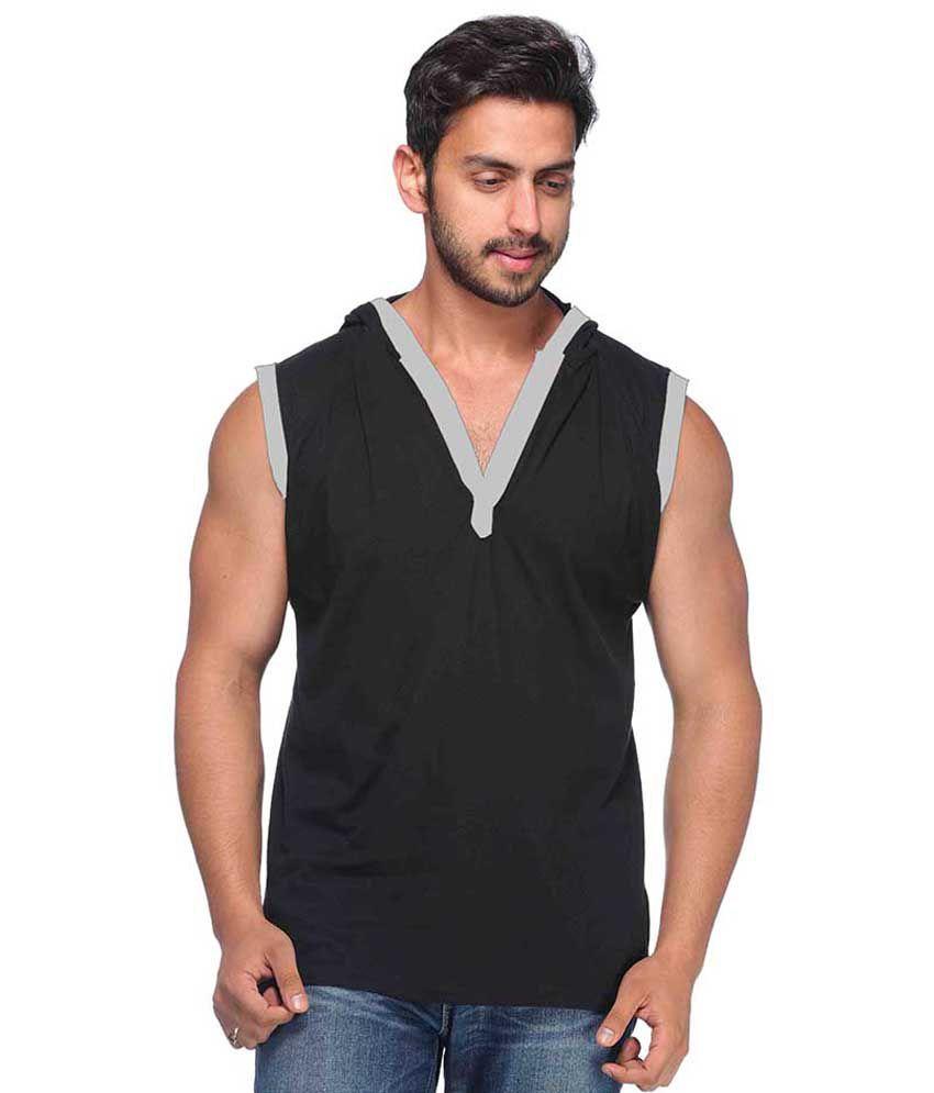 Demokrazy Black Cotton Blend T-Shirt