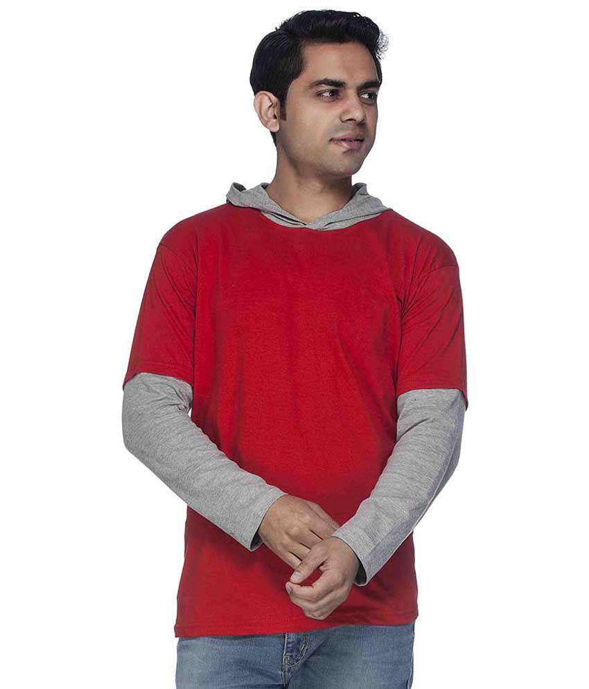 Demokrazy Red Cotton Blend T-Shirt
