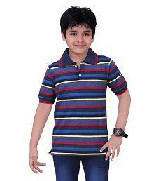 Dongli Multicolour Cotton Polo T Shirt