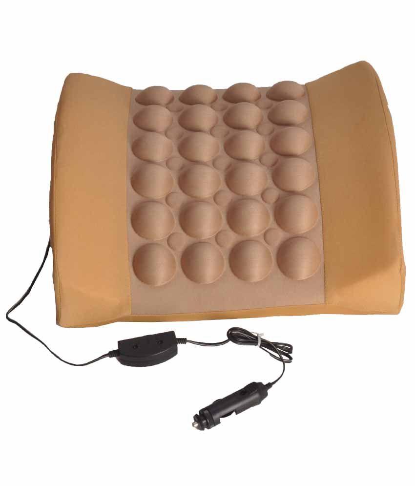 Celix Back Rest Vibrating Message Car Seat Cushion Beige