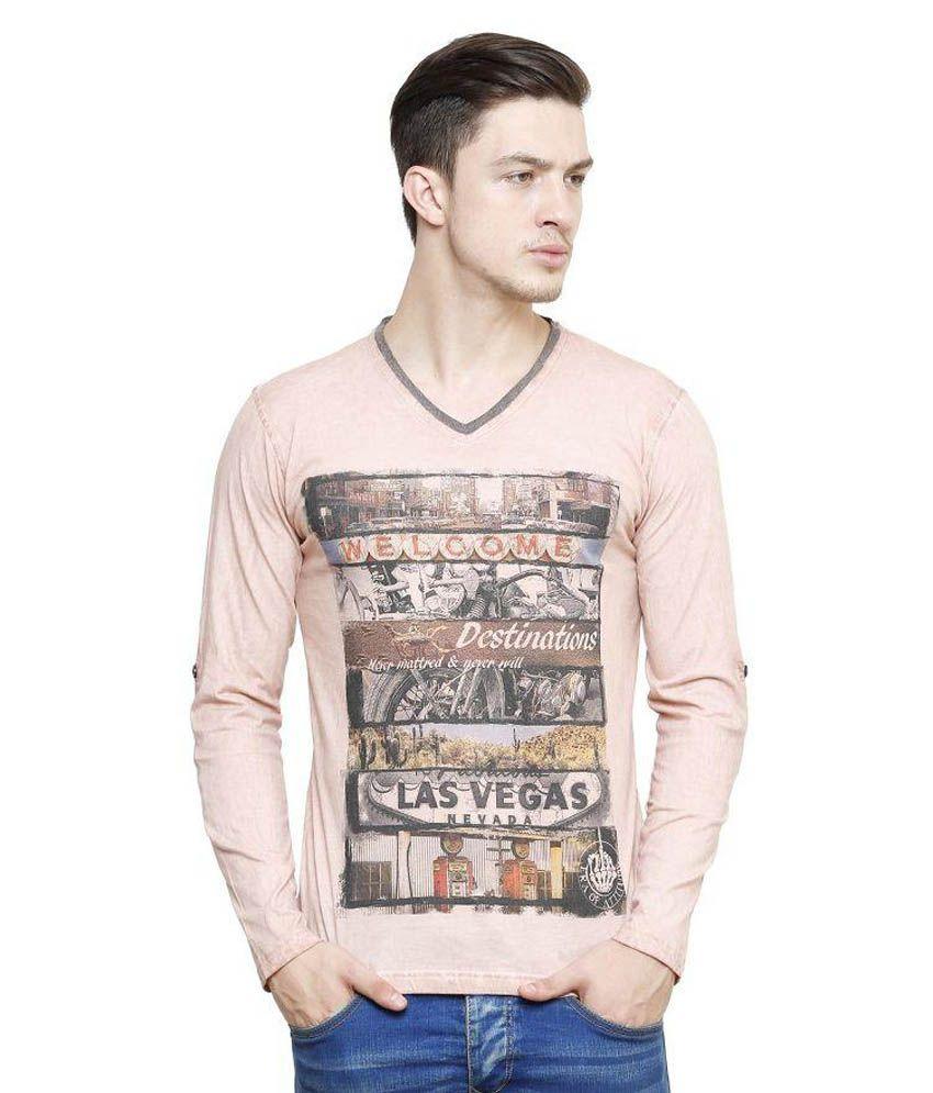 Era Of Attitude Pink V-Neck T-Shirt