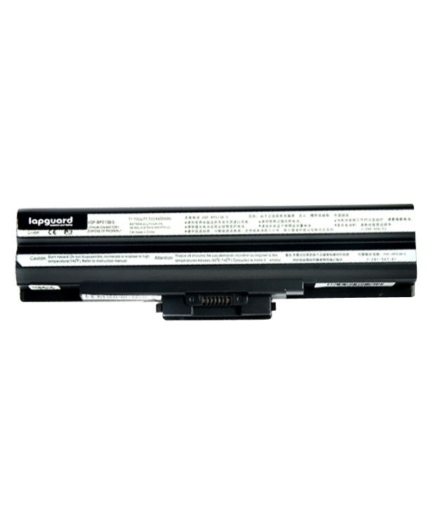 Lapguard 4400mAh Lithium-ion Laptop Battery For Sony VGN-FW46GJB - Black