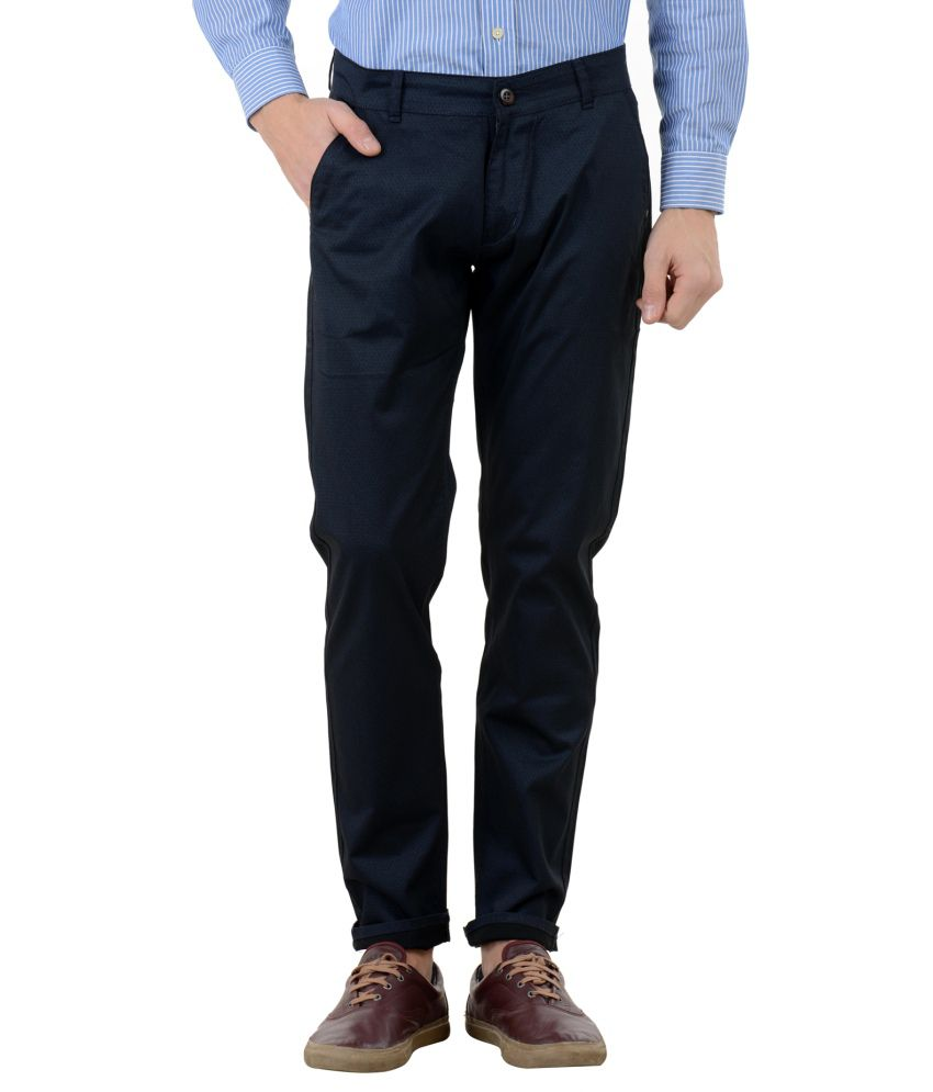 FBM Black Regular Fit Chinos