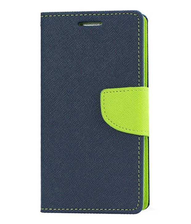 Gimmick Diary Flip Cover For Samsung Galaxy S Duos -Blue