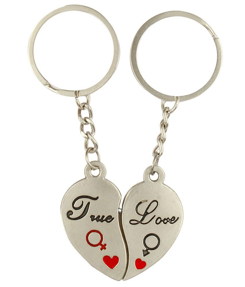 f3134d85a8 CTW Romantic True Love Heart Couple Keychain Metal Key Chain Ring: Buy  Online at Low Price in India - Snapdeal