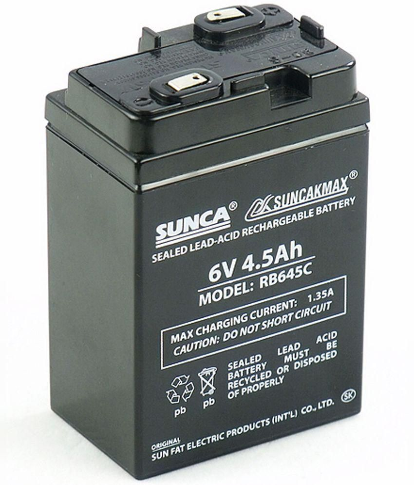Sunca 6volts 45ah Sealed Lead Acid Battery Price In India Buy Sealedleadacid Charger Circuits
