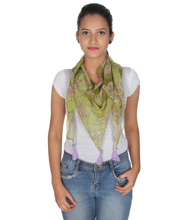 Anekaant Green Others Casual Scarves