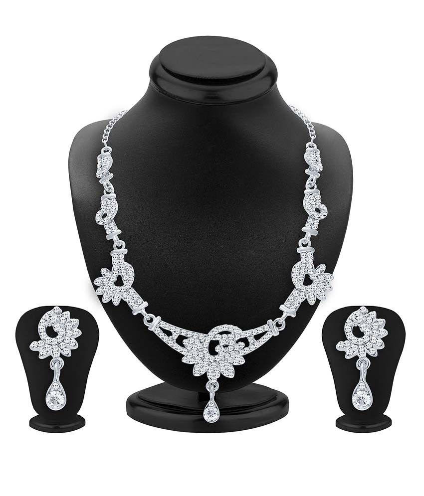 Sukkhi White Alloy Bridal Necklace Set