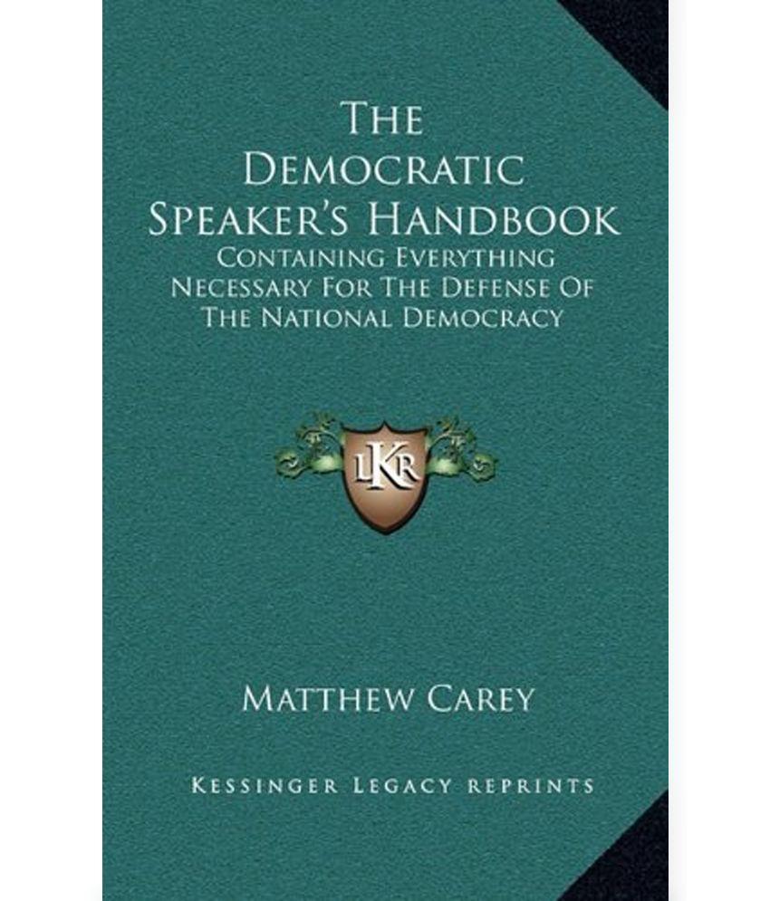 https://n4.sdlcdn.com/imgs/b/o/x/The-Democratic-Speaker-s-Handbook-SDL691841748-1-cfb05.jpg