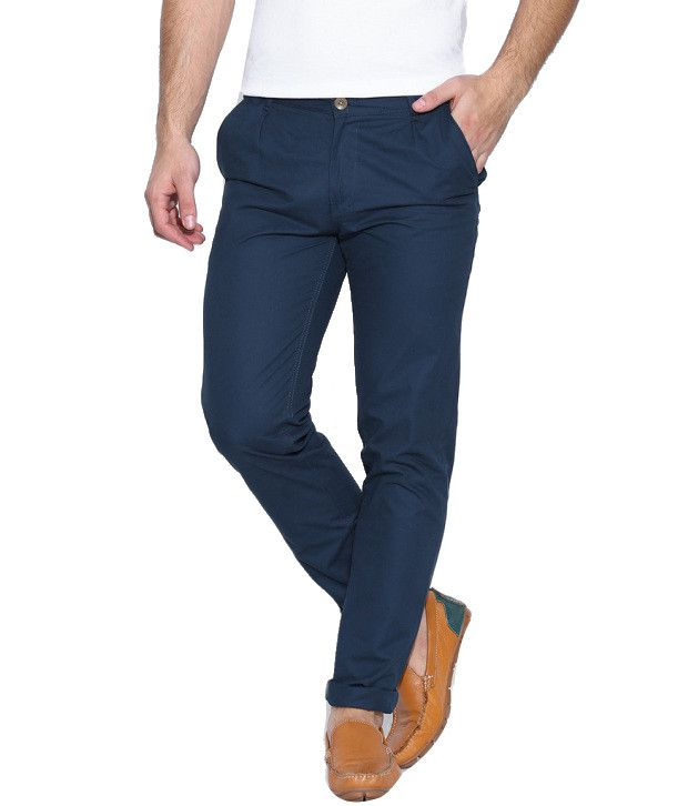 Hubberholme Blue Regular Chinos Trouser