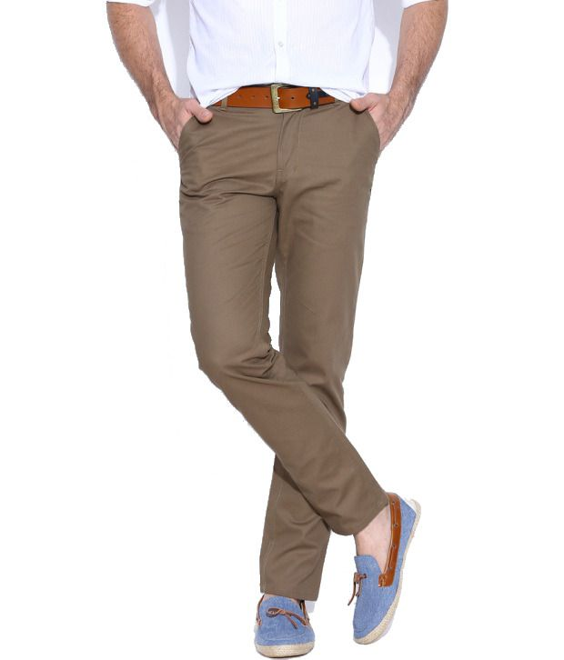 Hubberholme Brown Regular Fit Chinos