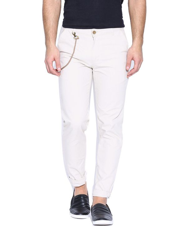 Hubberholme White Regular Fit Chinos
