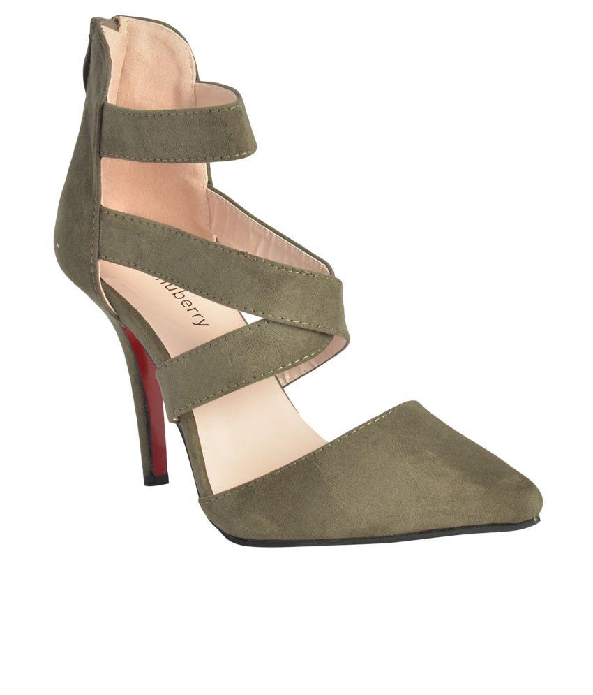 Shuberry Olive Stiletto Heels