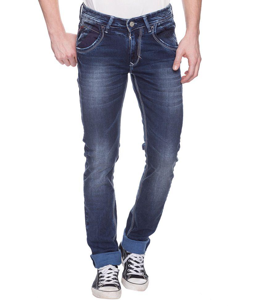 Spykar Blue Skinny Fit Jeans