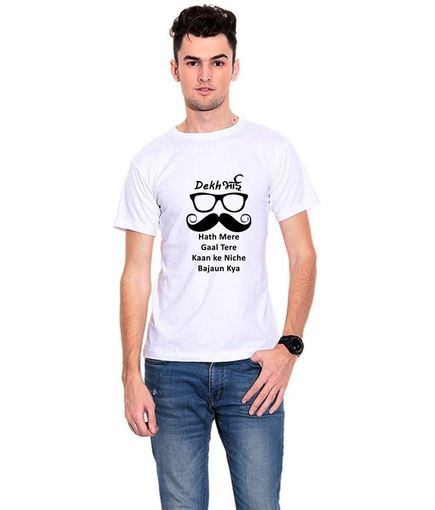Dealnearn White Round T Shirts Single