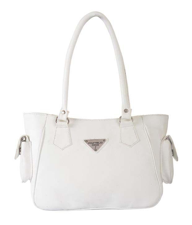 Fostelo White P.U. Shoulder Bag