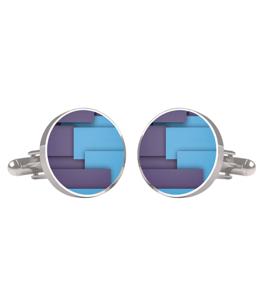 Cuff Tank Blue Metal Cufflinks For Men