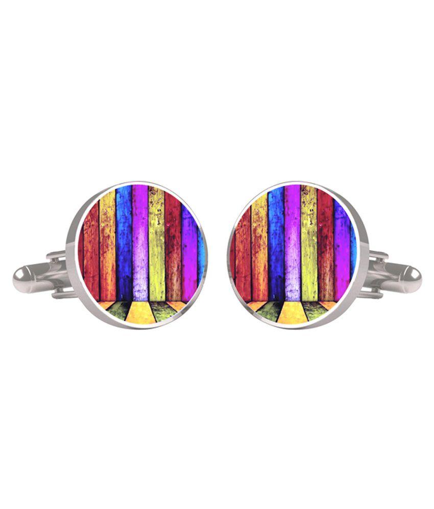 Cuff Tank Multicolour Metal Cufflinks For Men
