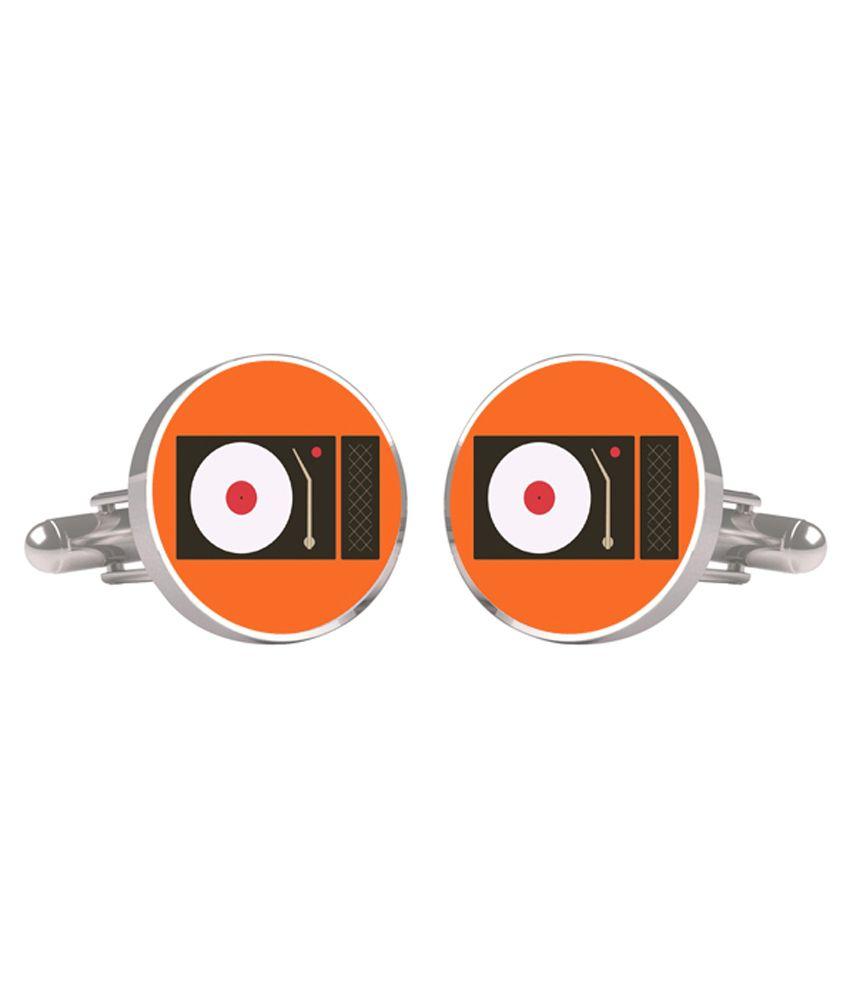 Cuff Tank Orange Metal Cufflinks For Men