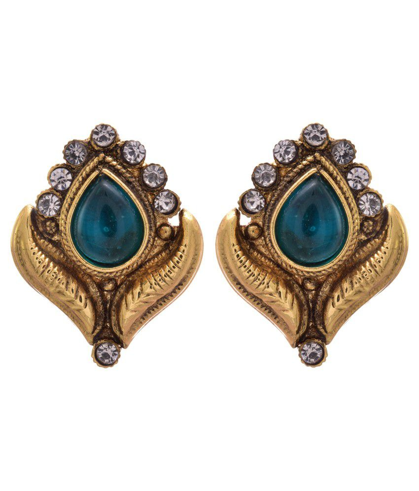 Jfl - Jewellery For Less Golden Copper Stud Earrings