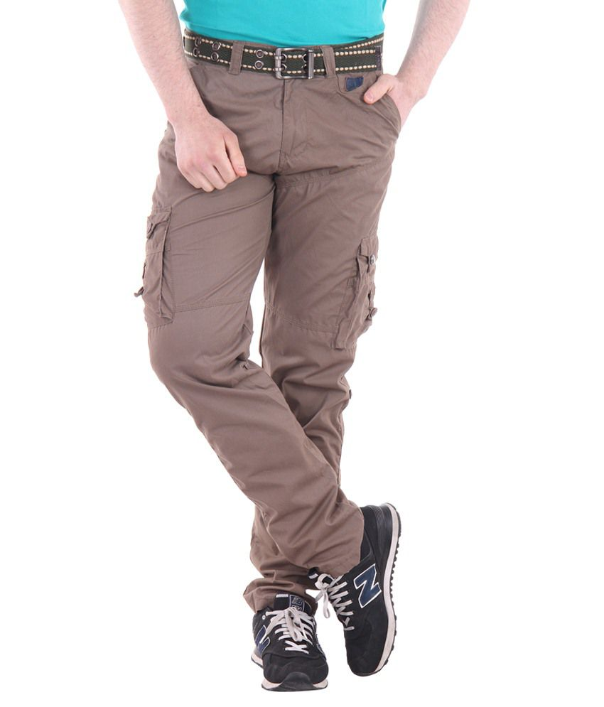 Sports 52 Wear Brown Regular Fit Cargos